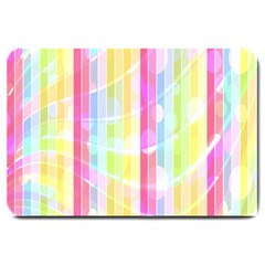 Abstract Stripes Colorful Background Large Doormat  by Simbadda