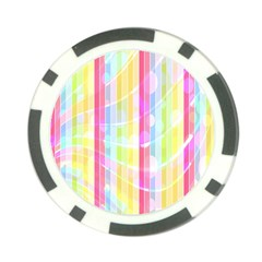Abstract Stripes Colorful Background Poker Chip Card Guard by Simbadda