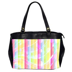 Abstract Stripes Colorful Background Office Handbags (2 Sides)  by Simbadda