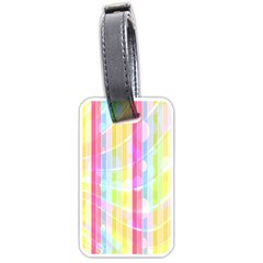 Abstract Stripes Colorful Background Luggage Tags (two Sides) by Simbadda