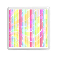 Abstract Stripes Colorful Background Memory Card Reader (square)  by Simbadda