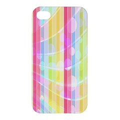 Abstract Stripes Colorful Background Apple Iphone 4/4s Hardshell Case by Simbadda