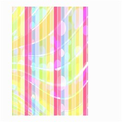 Abstract Stripes Colorful Background Small Garden Flag (two Sides) by Simbadda