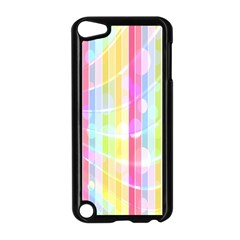 Abstract Stripes Colorful Background Apple Ipod Touch 5 Case (black) by Simbadda