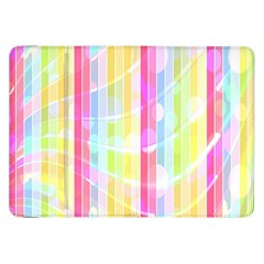 Abstract Stripes Colorful Background Samsung Galaxy Tab 8 9  P7300 Flip Case by Simbadda