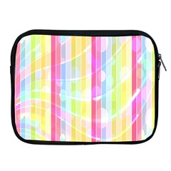 Abstract Stripes Colorful Background Apple Ipad 2/3/4 Zipper Cases by Simbadda