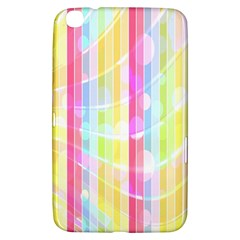 Abstract Stripes Colorful Background Samsung Galaxy Tab 3 (8 ) T3100 Hardshell Case  by Simbadda