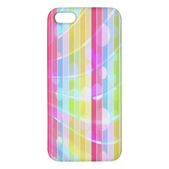 Abstract Stripes Colorful Background Iphone 5s/ Se Premium Hardshell Case by Simbadda