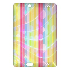 Abstract Stripes Colorful Background Amazon Kindle Fire Hd (2013) Hardshell Case by Simbadda