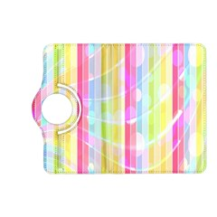 Abstract Stripes Colorful Background Kindle Fire Hd (2013) Flip 360 Case by Simbadda