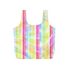 Abstract Stripes Colorful Background Full Print Recycle Bags (s)  by Simbadda