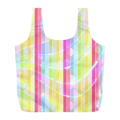 Abstract Stripes Colorful Background Full Print Recycle Bags (l)  by Simbadda