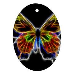 Fractal Butterfly Ornament (oval) by Simbadda
