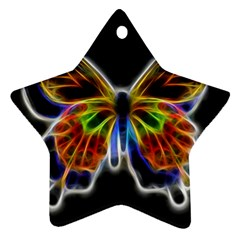 Fractal Butterfly Ornament (star) by Simbadda
