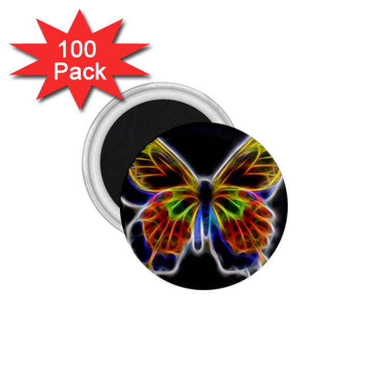 Fractal Butterfly 1.75  Magnets (100 pack)