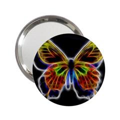Fractal Butterfly 2 25  Handbag Mirrors by Simbadda
