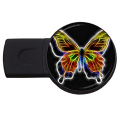 Fractal Butterfly Usb Flash Drive Round (2 Gb) by Simbadda