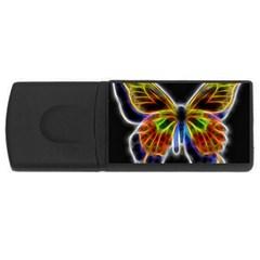 Fractal Butterfly Usb Flash Drive Rectangular (4 Gb) by Simbadda