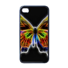 Fractal Butterfly Apple Iphone 4 Case (black) by Simbadda