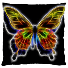 Fractal Butterfly Large Cushion Case (two Sides) by Simbadda