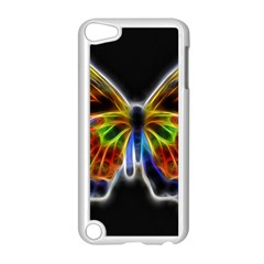 Fractal Butterfly Apple iPod Touch 5 Case (White) by Simbadda