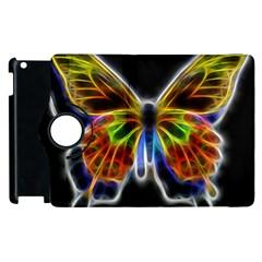 Fractal Butterfly Apple Ipad 2 Flip 360 Case by Simbadda