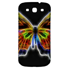 Fractal Butterfly Samsung Galaxy S3 S Iii Classic Hardshell Back Case by Simbadda