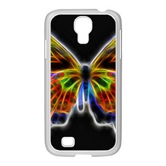 Fractal Butterfly Samsung Galaxy S4 I9500/ I9505 Case (white) by Simbadda