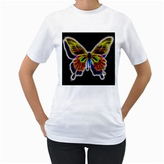 Fractal Butterfly Women s T Shirt (white)  by Simbadda