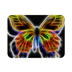 Fractal Butterfly Double Sided Flano Blanket (mini)  by Simbadda