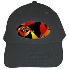 Fractal Ribbons Black Cap by Simbadda