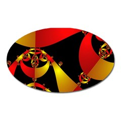 Fractal Ribbons Oval Magnet by Simbadda