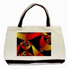 Fractal Ribbons Basic Tote Bag by Simbadda