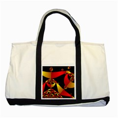 Fractal Ribbons Two Tone Tote Bag by Simbadda
