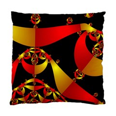 Fractal Ribbons Standard Cushion Case (two Sides) by Simbadda