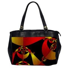 Fractal Ribbons Office Handbags by Simbadda