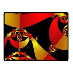 Fractal Ribbons Fleece Blanket (small) by Simbadda