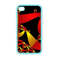 Fractal Ribbons Apple Iphone 4 Case (color) by Simbadda