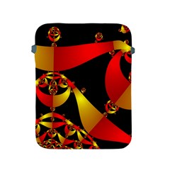 Fractal Ribbons Apple Ipad 2/3/4 Protective Soft Cases by Simbadda