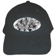 Fractal Black Flower Black Cap by Simbadda