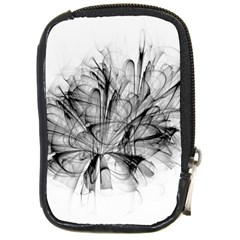 Fractal Black Flower Compact Camera Cases by Simbadda
