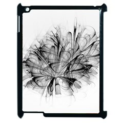 Fractal Black Flower Apple Ipad 2 Case (black) by Simbadda
