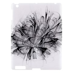 Fractal Black Flower Apple Ipad 3/4 Hardshell Case by Simbadda