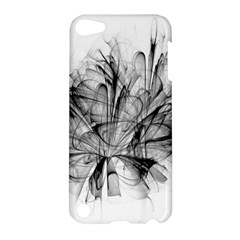 Fractal Black Flower Apple Ipod Touch 5 Hardshell Case by Simbadda