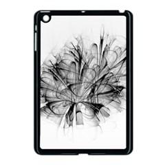 Fractal Black Flower Apple Ipad Mini Case (black) by Simbadda