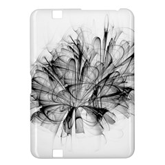 Fractal Black Flower Kindle Fire Hd 8 9  by Simbadda