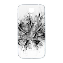 Fractal Black Flower Samsung Galaxy S4 I9500/I9505  Hardshell Back Case