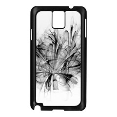 Fractal Black Flower Samsung Galaxy Note 3 N9005 Case (black) by Simbadda
