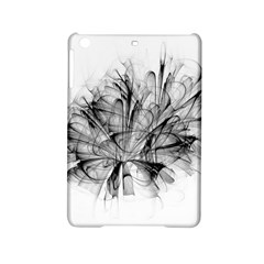 Fractal Black Flower Ipad Mini 2 Hardshell Cases by Simbadda
