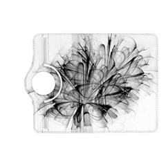 Fractal Black Flower Kindle Fire Hd (2013) Flip 360 Case by Simbadda
